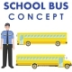 School Bus Concept.  - GraphicRiver Item for Sale