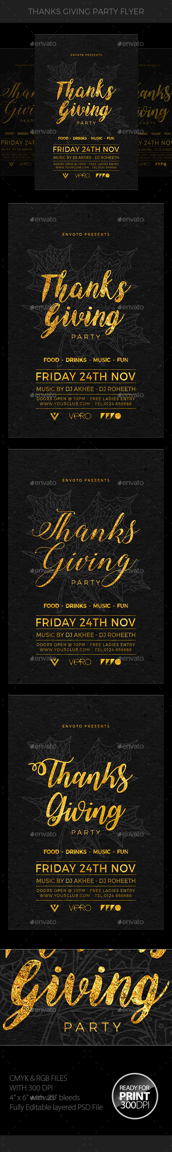 Thanksgiving Flyer - Clubs & Parties Events
