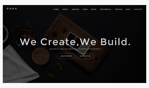 Dona // Onepage Creative Parallax Template