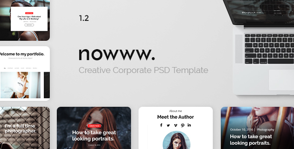 Photography Nowww – Creative Portfolio, Agency, Freelancer, Blogging, Photography Theme
