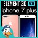 Apple iPhone 7 Plus for Element 3D - 3DOcean Item for Sale