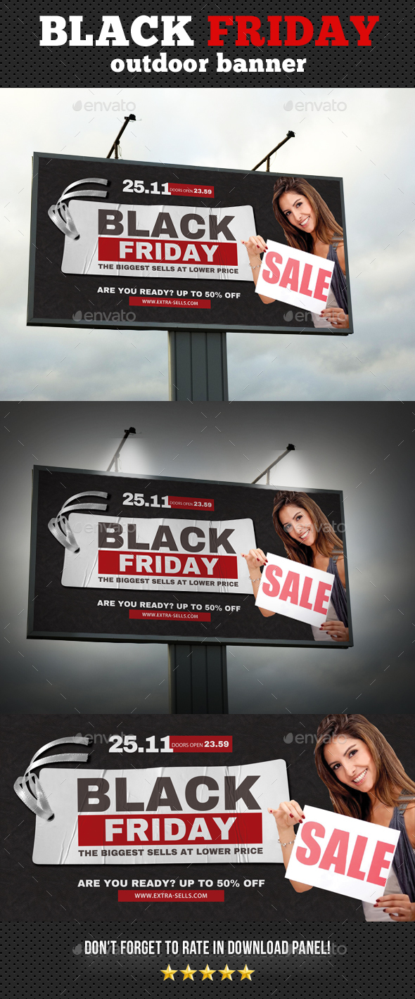 Black Friday Outdoor Banner Template 02 - Signage Print Templates