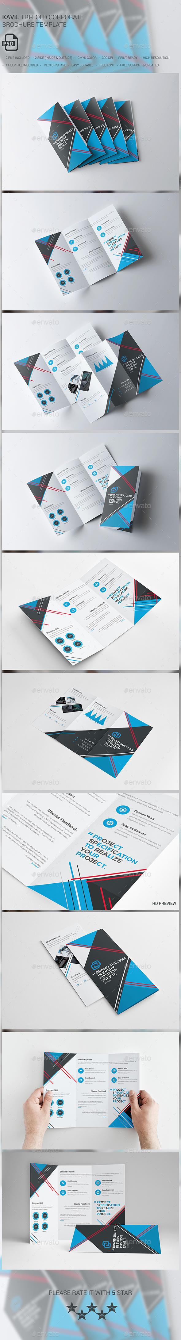 Kavil Corporate Tri-fold Brochure - Corporate Brochures