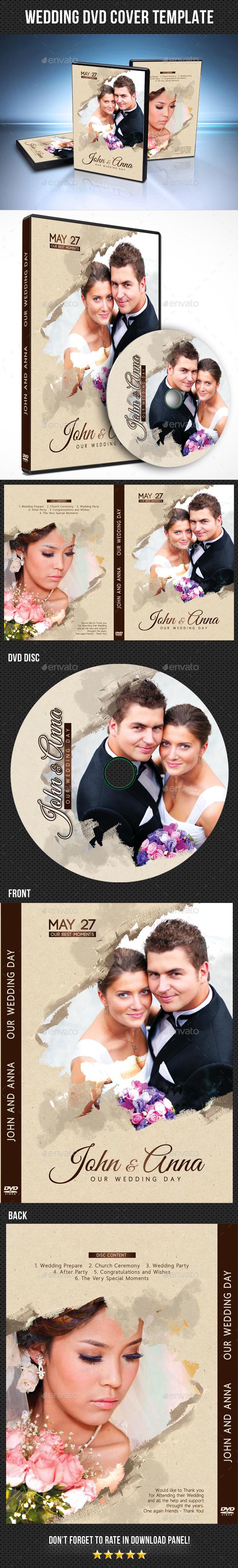 Wedding DVD Cover Template 18 - CD & DVD Artwork Print Templates