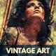 Vintage Art Grunge Photo Template - GraphicRiver Item for Sale