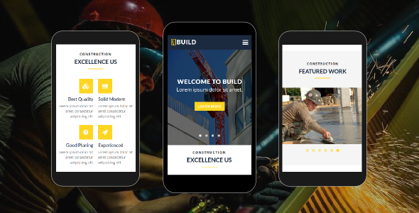 Build - Construction Mobile Template - Mobile Site Templates