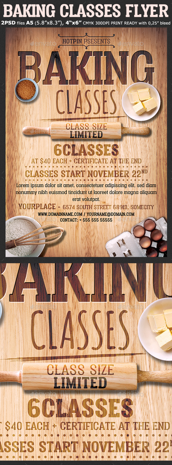 Baking Classes Flyer Template - Events Flyers