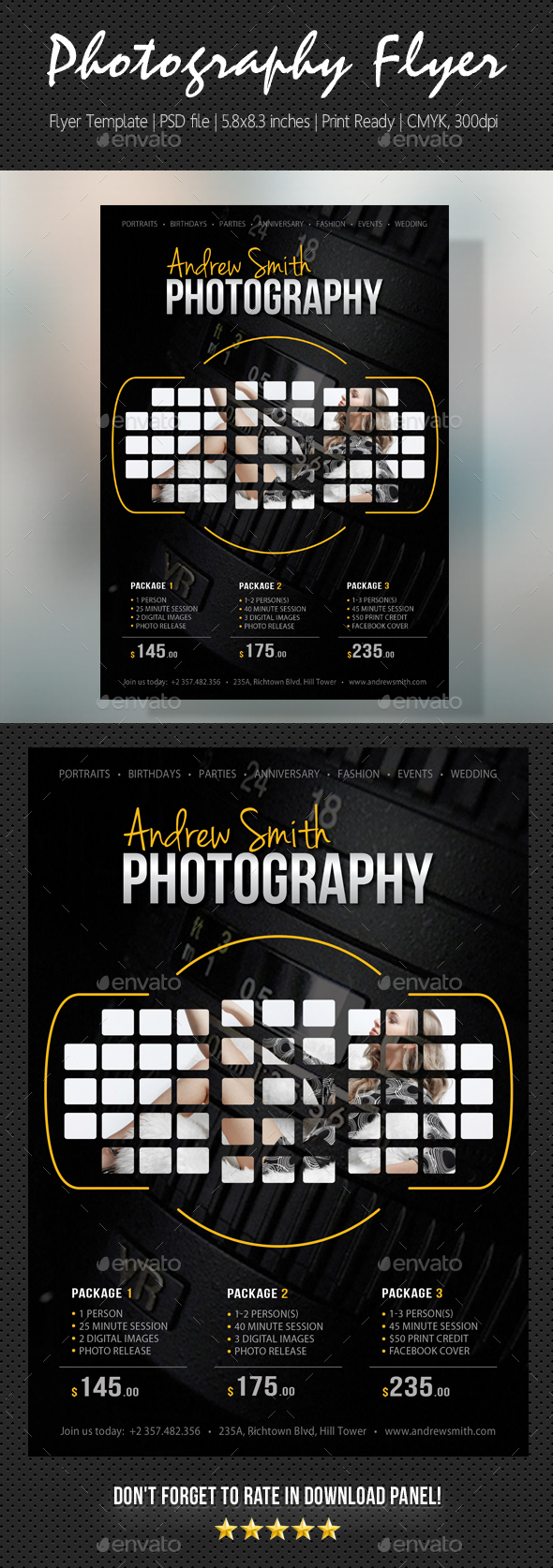 Photography Studio Flyer 21 - Flyers Print Templates