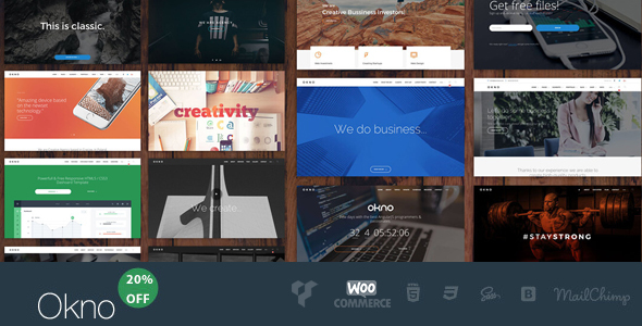 OKNO – All in One Multipurpose WordPress Theme
