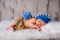 Boy kid newborn sleeping in blue hat - PhotoDune Item for Sale