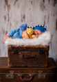 Newborn photography of 2 weeks old sleeping baby on soft fluffy - PhotoDune Item for Sale
