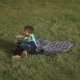 Boy On The Grass Hugging Dog - VideoHive Item for Sale