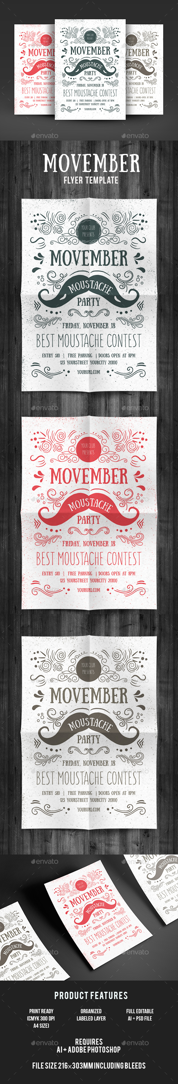 Movember Flyer - Events Flyers