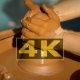 Creation Covers a Clay Pot.  Hands Working Clay On Potter's Wheel - VideoHive Item for Sale