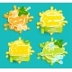 Set Of Labels Splash. - GraphicRiver Item for Sale