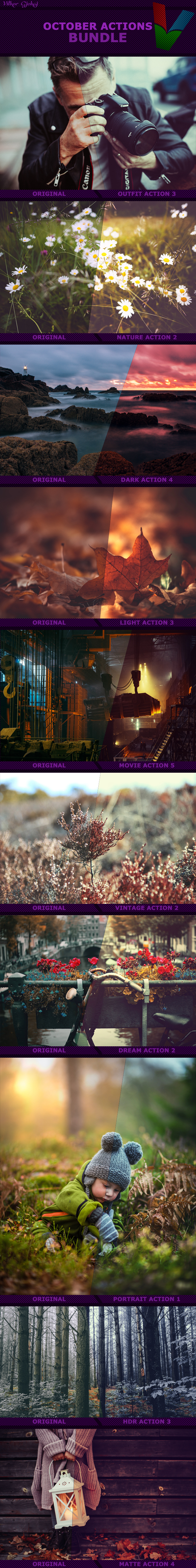 October Photoshop Actions Bundle - Photo Effects Actions