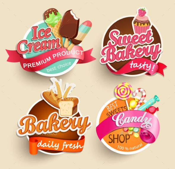 Food Labels And Stickers. - Food Objects