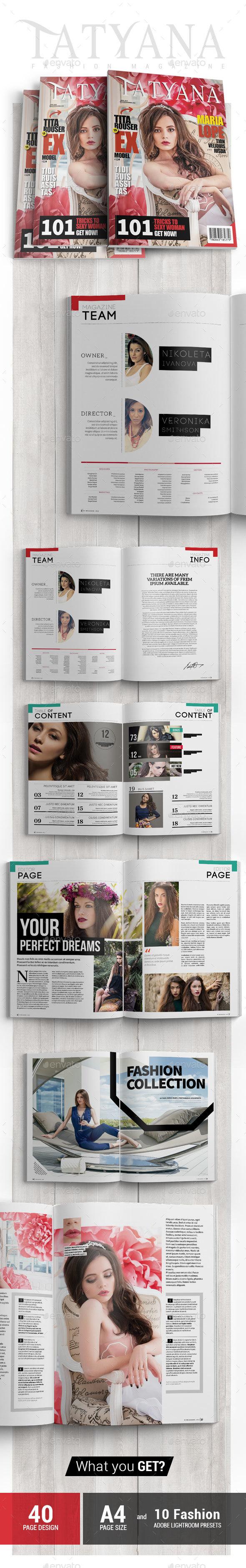 Tatyana - Fashion Magazine Issue 5 - Magazines Print Templates