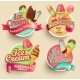 Ice Cream Emblems. - GraphicRiver Item for Sale