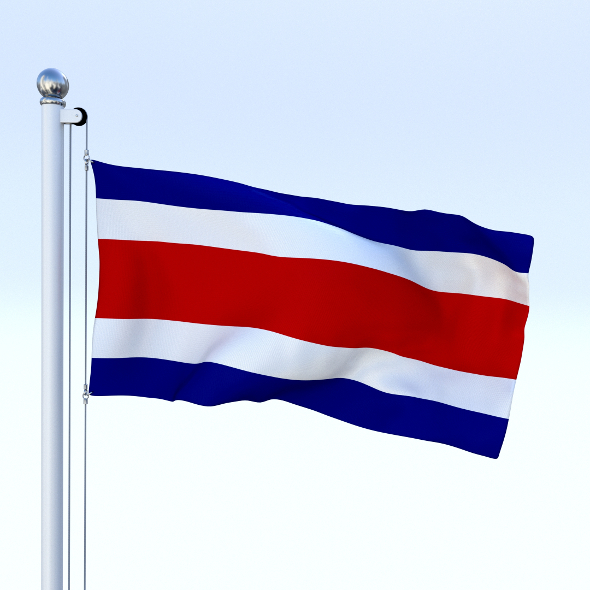Animated Costa Rica Flag - 3DOcean Item for Sale