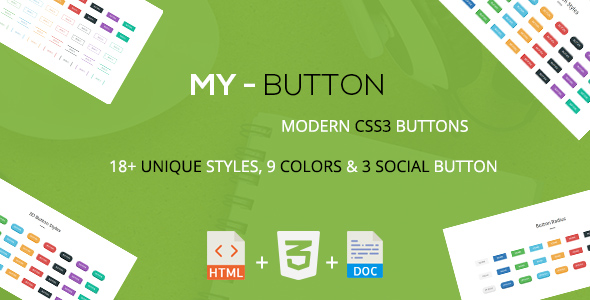 Mybutton - A Modern CSS3 Buttons Collection - CodeCanyon Item for Sale