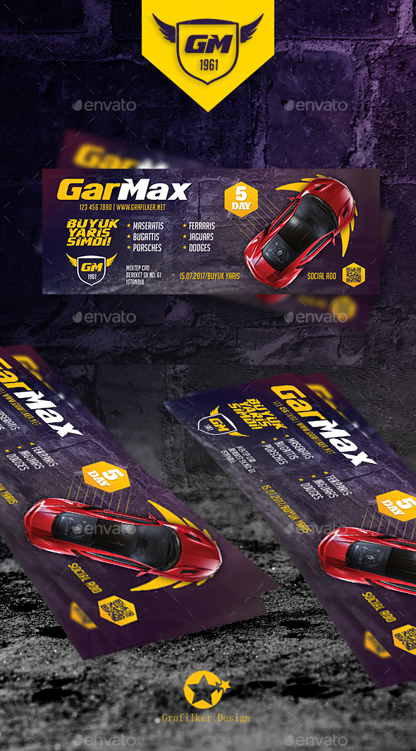 Auto Show Cover Templates - Facebook Timeline Covers Social Media
