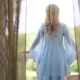 Bride In Blue Gown On The Balcony Of The Russian Estate - VideoHive Item for Sale
