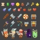 Game Icons Medieval Viking. Inventory, Heroes - GraphicRiver Item for Sale
