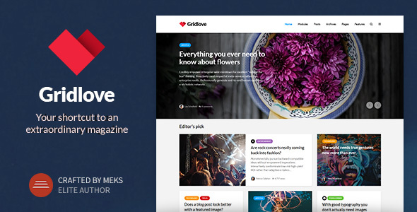 Gridlove - Creative Grid Style News & Magazine WordPress Theme - News / Editorial Blog / Magazine