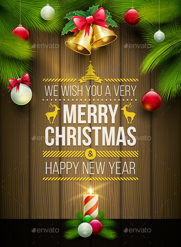 Merry Christmas Poster Design - Christmas Seasons/Holidays
