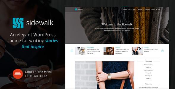 Sidewalk - Elegant Personal Blog WordPress Theme - Personal Blog / Magazine