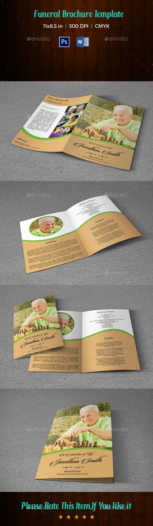 Funeral program Template-V138 - Informational Brochures