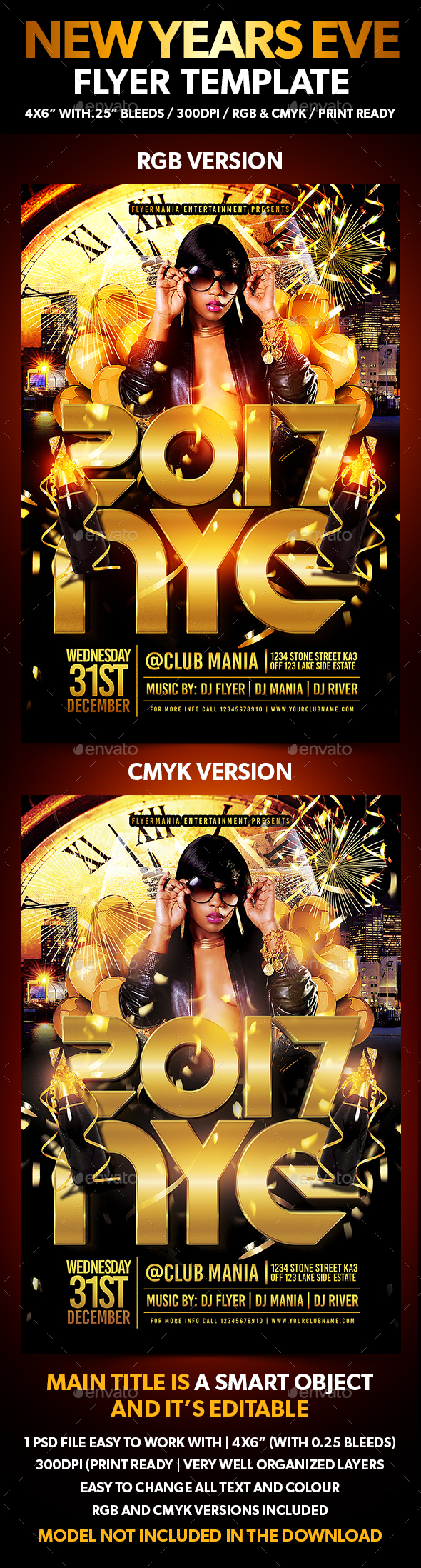 New Years Eve Flyer Template - Flyers Print Templates
