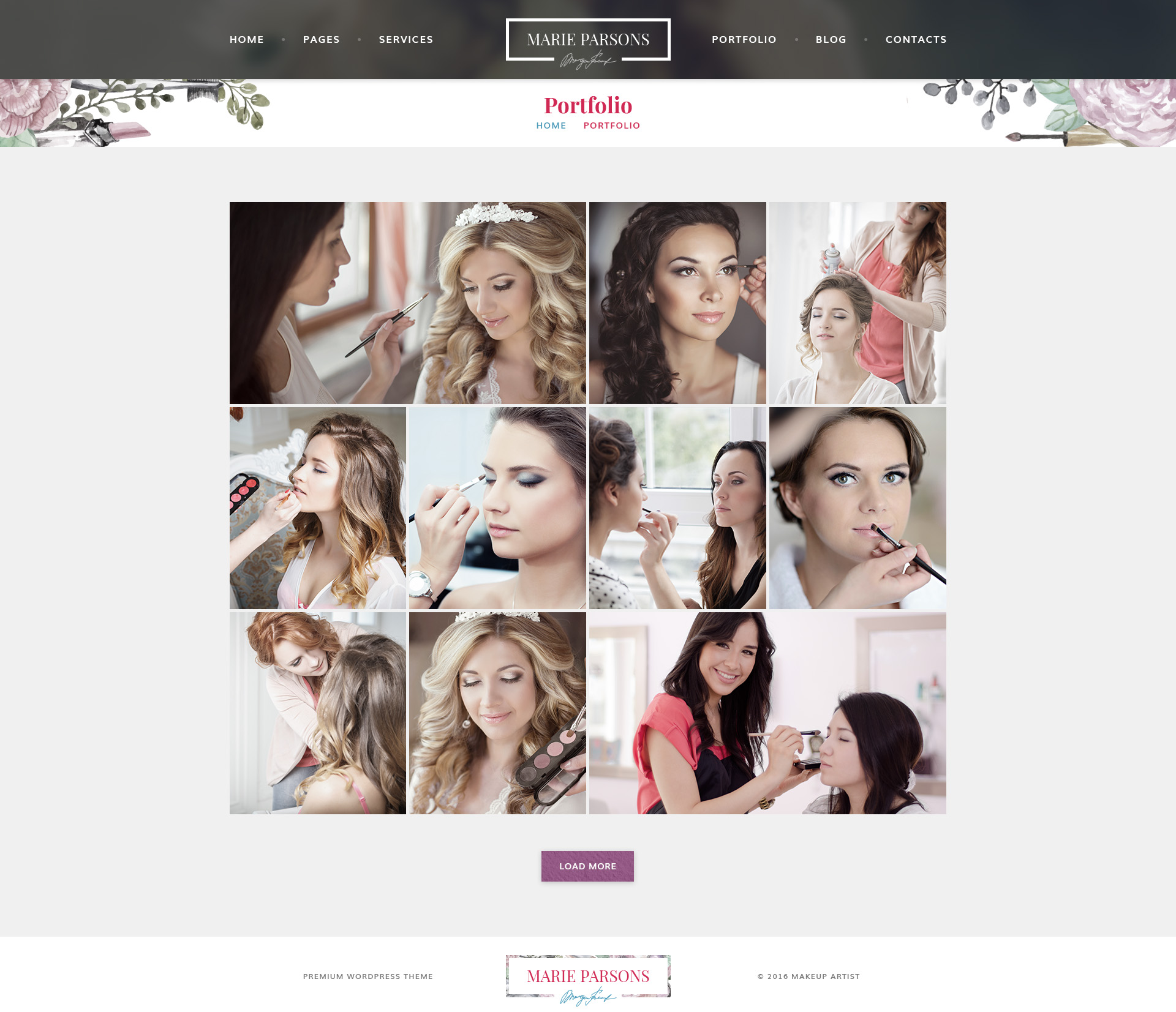 Makeup Artist - Premium PSD Template by mwtemplates | ThemeForest