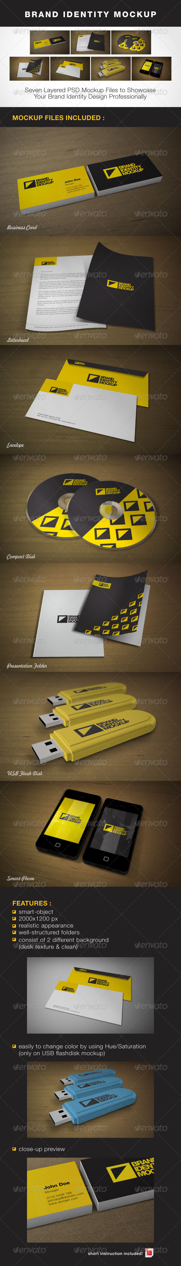 Brand Identity Mock-up - Stationery Print