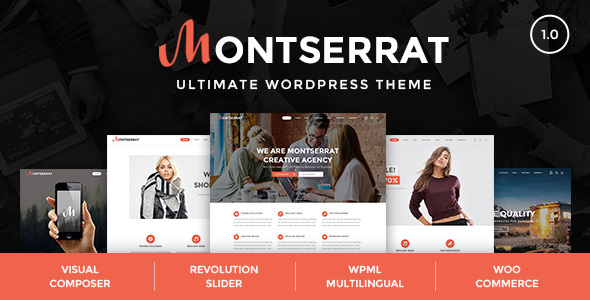 Montserrat - Studio, Agency WordPress Theme
