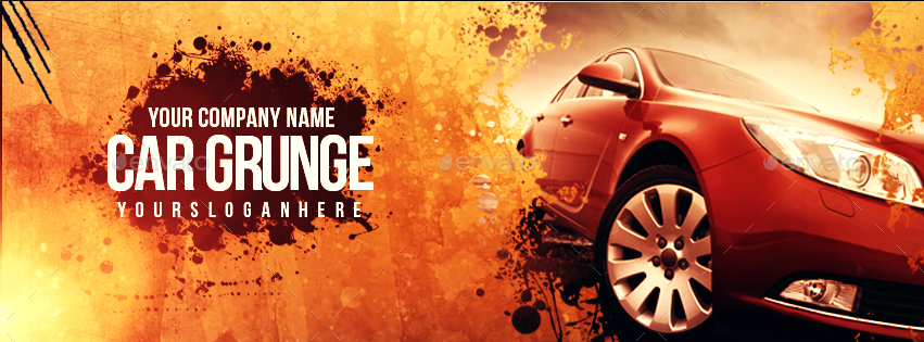 Car Grunge Cover Facebook