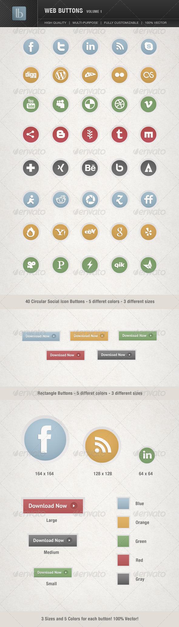 Web Buttons   Volume 1 - Buttons Web Elements