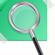 Magnifying Glass with Sticker - GraphicRiver Item for Sale
