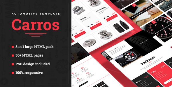 Carros — Automotive HTML5 Template - Business Corporate