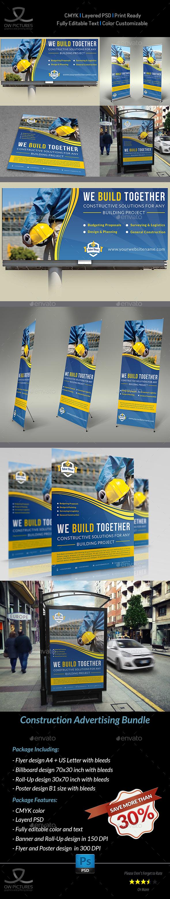 Construction Advertising Bundle Vol.3 - Signage Print Templates