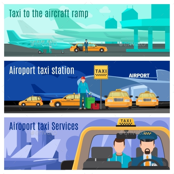 Taxi Service Banners - Travel Conceptual