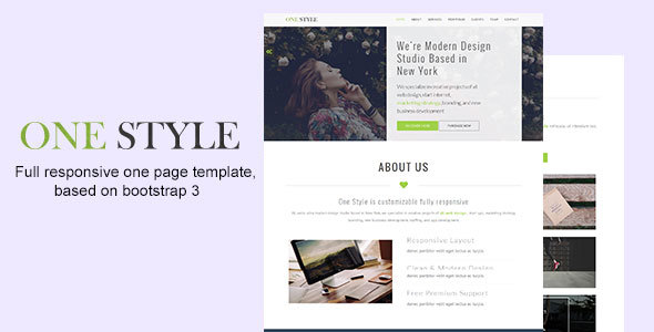 One Style – Premium Responsive One Page Template