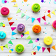 Colorful cupcake party background - PhotoDune Item for Sale