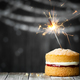 Birthday cake with sparkler - PhotoDune Item for Sale