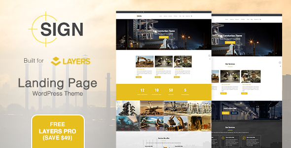 Sign - Factory | Industrial | Construction Responsive Layers WordPress Theme