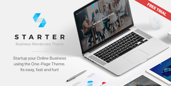 Starter | Business One-Page WordPress Theme