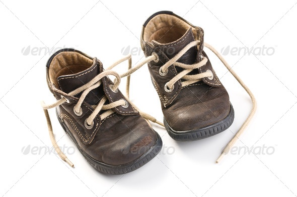 kid's leather shoes - Stock Photo - Images