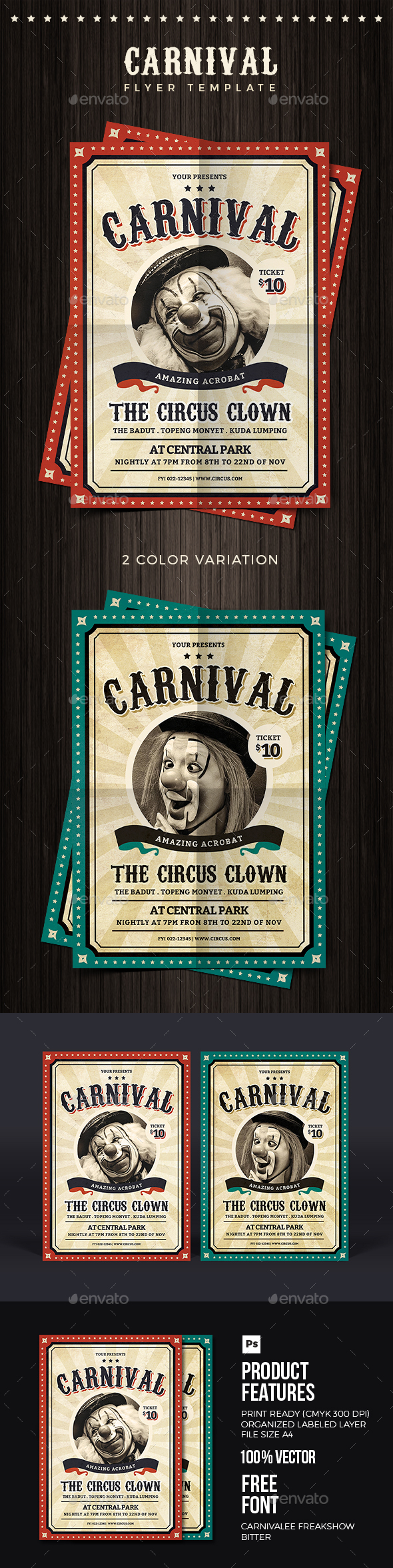 Vintage Carnival Flyer - Events Flyers