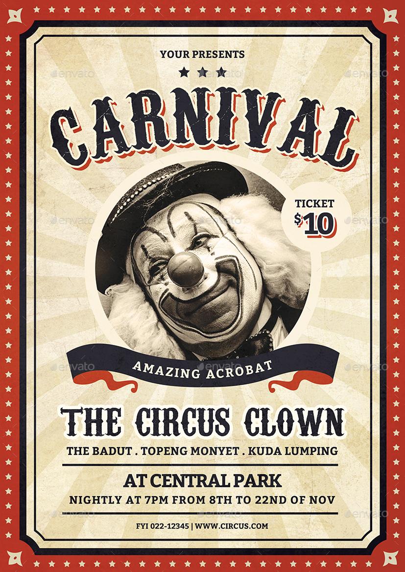 Vintage Carnival Flyer By Vynetta